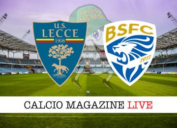 Lecce Brescia cronaca diretta live risultato in tempo reale