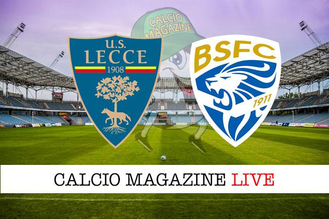 Lecce - Brescia 1-0, il tabellino