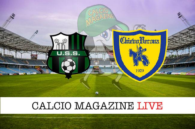 Sassuolo Chievo cronaca diretta live risultato in tempo reale