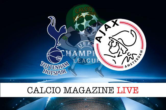 Tottenham Ajax cronaca diretta live risultato in tempo reale