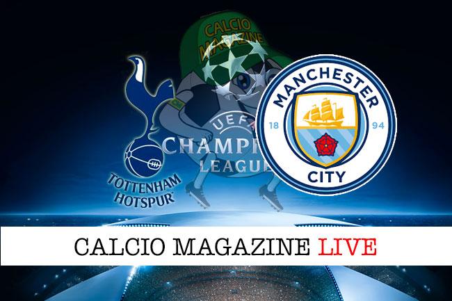 Tottenham Manchestery City cronaca diretta live risultato in tempo reale