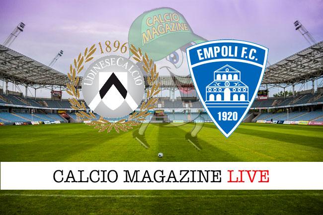 Udinese Empoli cronaca diretta live risultato in tempo reale