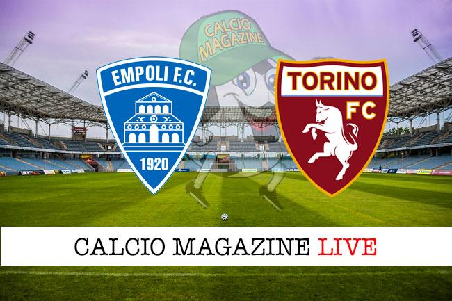 Empoli - Torino, le formazioni ufficiali