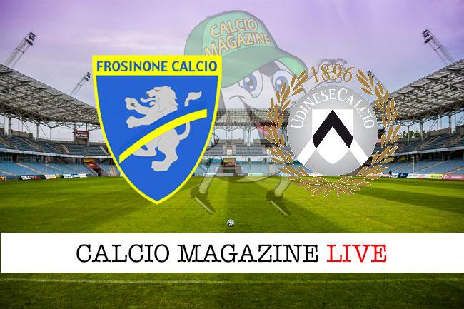 Frosinone Udinese cronaca diretta live risultato in tempo reale