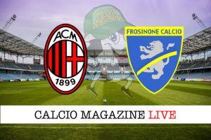 Milan Frosinone cronaca diretta live risultato in tempo reale