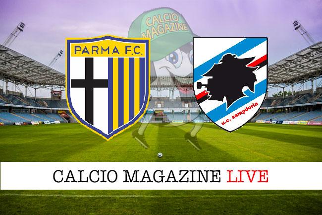Parma Sampdoria cronaca diretta live risultato in tempo reale