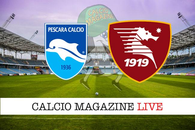 Pescara Salernitana cronaca diretta live risultato in tempo reale