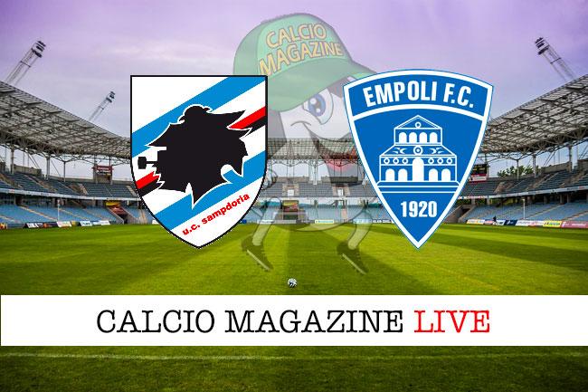 Sampdoria Empoli cronaca diretta live risultato in tempo reale