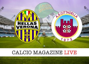 Verona Cittadella cronaca diretta live risultato in tempo reale