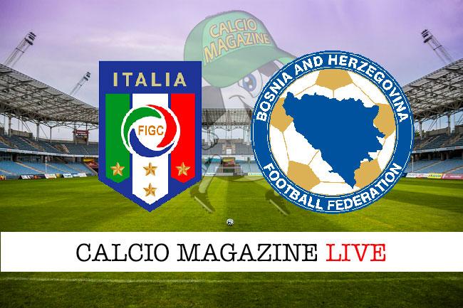 Italia Bosnia cronaca diretta live risultato in tempo reale