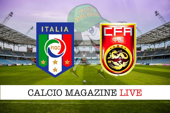 Italia Cina cronaca diretta live risultato in tempo reale