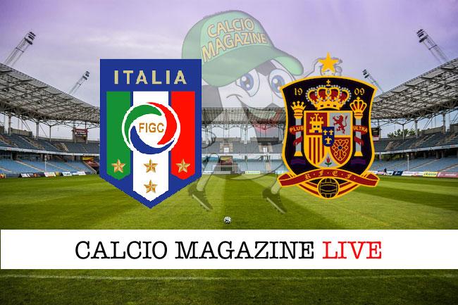 Italia Spagna cronaca diretta live risultato in tempo reale