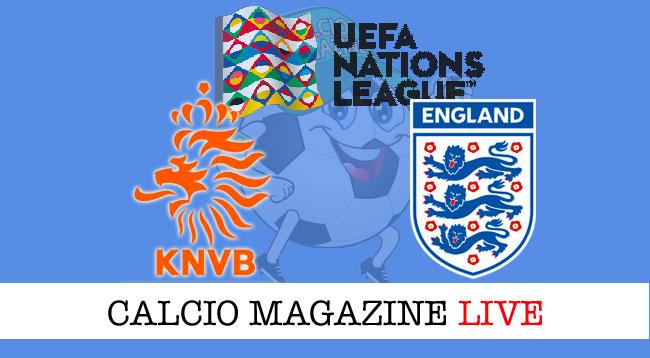 Olanda Inghilterra cronaca diretta live risultato in tempo reale
