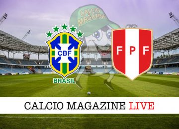 Brasile Perù cronaca diretta live risultato in tempo reale