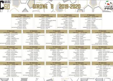 Calendario Serie C.Calendario Serie C 2019 2020 Girone B