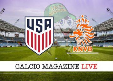 Stati Uniti Olanda cronaca diretta live risultato in tempo reale