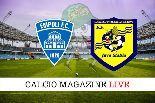 Empoli Juve Stabia cronaca diretta live risultato in tempo reale