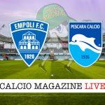 Empoli Pescara cronaca diretta live risultato in tempo reale