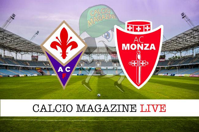 Fiorentina Monza cronaca diretta live risultato in tempo reale