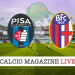 Pisa Bologna cronaca diretta live risultato in tempo reale