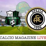 Sassuolo Spezia cronaca diretta live risultato in tempo reale