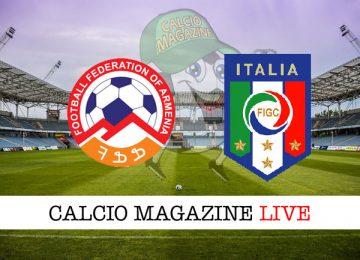 Armenia Italia cronaca diretta live risultato in tempo reale