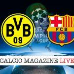Borussia Dortmund Barcellona cronaca diretta live risultato in tempo reale