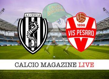 Cesena Vis Pesaro cronaca diretta live risultato in tempo reale
