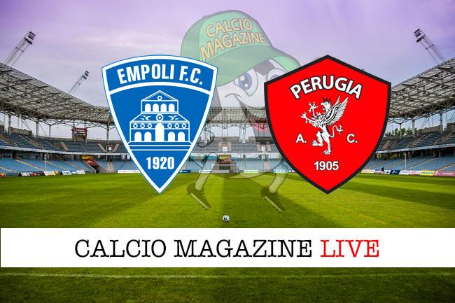 Empoli Perugia cronaca diretta live risultato in tempo reale