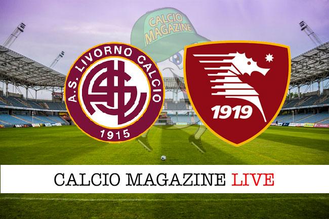 Livorno Salernitana cronaca diretta live risultato in tempo reale