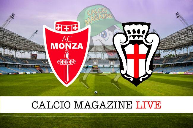 Monza Pro Vercelli cronaca diretta live risultato in tempo reale