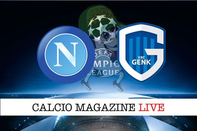 Napoli Genk cronaca diretta live risultato in tempo reale