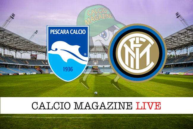 Pescara Inter cronaca diretta live risultato in tempo reale