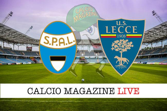Spal Lecce cronaca diretta live risultato in tempo reale