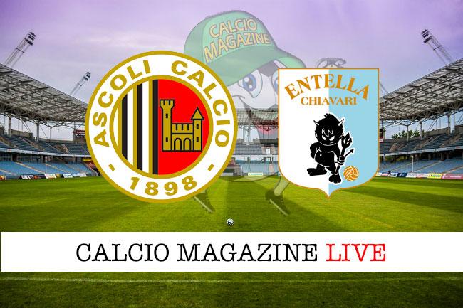 Ascoli Virtus Entella cronaca diretta live risultato in tempo reale