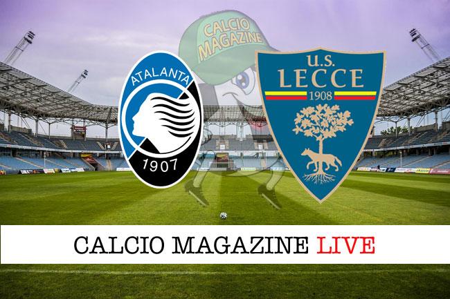 Atalanta Lecce cronaca diretta live risultato in tempo reale