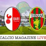 Bari Ternana cronaca diretta live risultato in tempo reale
