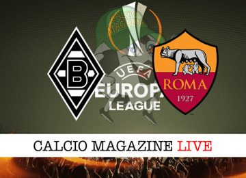 Borussia Monchengladbach Roma cronaca diretta live risultato in tempo reale
