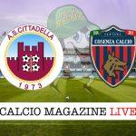 Cittadella Cosenza cronaca diretta live risultato in tempo reale