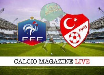 Francia Turchia cronaca diretta live risultato in tempo reale