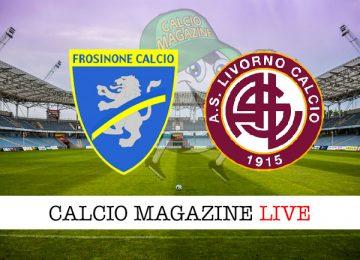 Frosinone Livorno cronaca diretta live risultato in tempo reale