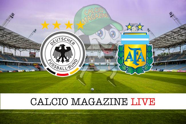 Germania Argentina cronaca diretta live risultato in tempo reale