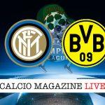 Inter Borussia Dortmund cronaca diretta live risultato in tempo reale