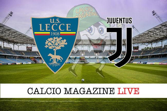 Lecce Juventus cronaca diretta live risultato in tempo reale