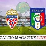 Liechtenstein Italia cronaca diretta live risultato in tempo reale