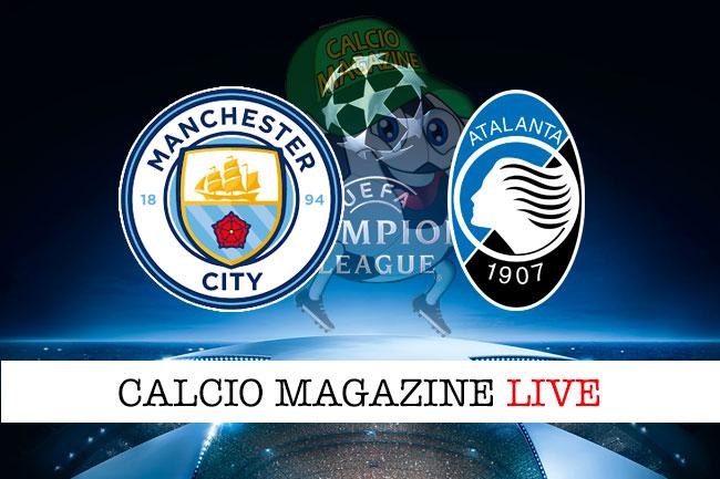 Manchester City Atalanta cronaca diretta live risultato in tempo reale