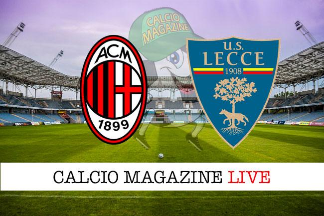 Milan Lecce cronaca diretta live risultato in tempo reale