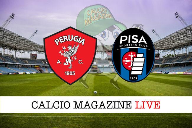 Perugia Pisa cronaca diretta live risultato in tempo reale