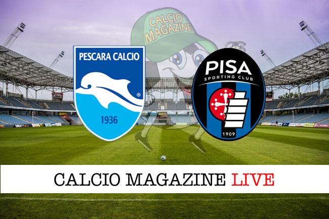 Pescara Pisa cronaca diretta live risultato in tempo reale