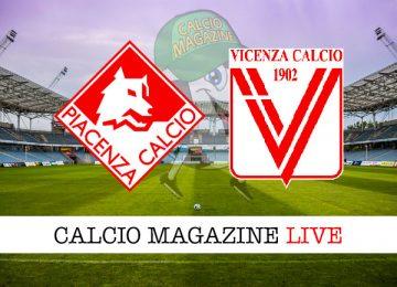 Piacenza Vicenza cronaca diretta live risultato in tempo reale